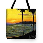 Pismo Beach California Sunset Tote Bag