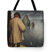 Pissing At The Moon  Tote Bag by Pieter the Younger Brueghel