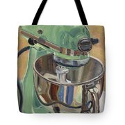 Pistachio Retro Designed Chrome Flour Mixer Tote Bag by Jennie Traill Schaeffer