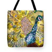 Pistacio Peacock Tote Bag