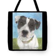 Pitbull Dog Portrait Canine Animal Cathy Peek Tote Bag