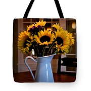 Pitcher Of Sunflowers Tote Bag