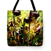 Pitcher Plant Abstraction Tote Bag