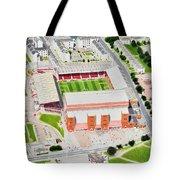 Pittodrie Stadia Art Tote Bag