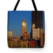 Pittsburg At Dusk Tote Bag