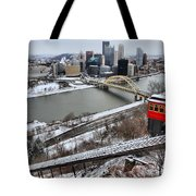 Pittsburgh Duquesne Incline Winter Tote Bag
