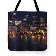 Pittsburgh After The Setting Sun Tote Bag