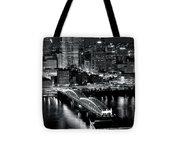 Pittsburgh Black And White  Tote Bag