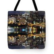 Pittsburgh Dusk Reflection 2 Tote Bag