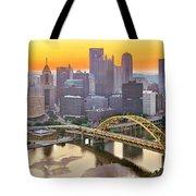 Pittsburgh Incline Sunrise Panorama Tote Bag
