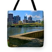 Pittsburgh Pennsylvania Skyline And Bridges As Seen From The North Shore Tote Bag