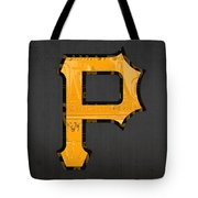 Pittsburgh Pirates Baseball Vintage Logo License Plate Art Tote Bag