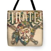Pittsburgh Pirates Poster Vintage Tote Bag