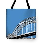 Pittsburgh Skyline 16th St. Bridge - Slate Tote Bag