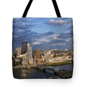 Pittsburgh Skyline At Dusk Tote Bag