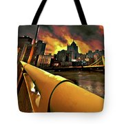 Pittsburgh Skyline Tote Bag