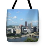 Pittsburgh Skyline From Mount Washington Tote Bag