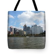 Pittsburgh Skyline From The Waterfront Tote Bag