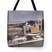 Pittsburgh's First Snow Of 2015 Tote Bag