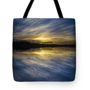 Pittwater Sunset Abstract Tote Bag