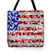 Pixel Flag Tote Bag