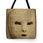 Pixelated Face Tote Bag