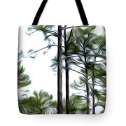 Pixelated Pine Tote Bag