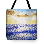 Pixelated Sunset Tote Bag