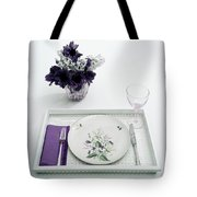 Place Setting With With Flowers Tote Bag