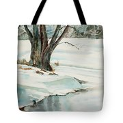 Placid Winter Morning Tote Bag