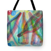 Plaid Wine Tote Bag by Diane Pape