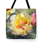 Plains Prickly Pear Flower Tote Bag