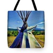 Plains Tribes Teepee Tote Bag