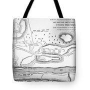 Plan Of The Battle Of Saratoga October 1777 Tote Bag