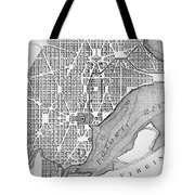 Plan Of The City Of Washington As Originally Laid Out In 1793 Tote Bag