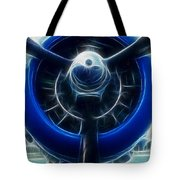 Plane Blue Prop Tote Bag by Paul Ward
