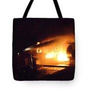 Plane Burning Tote Bag