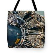 Plane Engine Close Up Tote Bag