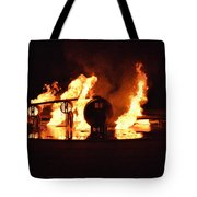 Plane Heats Up Tote Bag