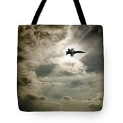 Plane In Flight Tote Bag