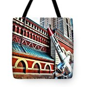 Plane In The City Tote Bag
