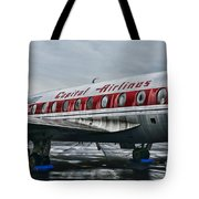 Plane Obsolete Capital Airlines Tote Bag