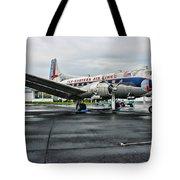 Plane On The Tarmac Tote Bag