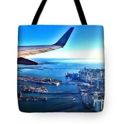 Plane Over Miami Tote Bag