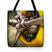 Plane - Pilot - Prop - Twin Wasp Tote Bag by Mike Savad