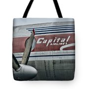 Plane Vintage Capital Airlines Tote Bag by Paul Ward