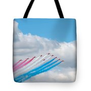 Planes Fly In Airshow Tote Bag