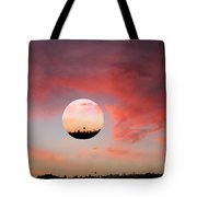 Planet And Sunset Tote Bag