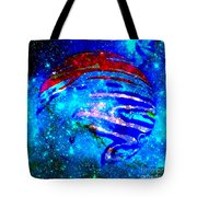 Planet Disector Blue/red Tote Bag