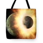 Planetary Demolition Derby  Tote Bag